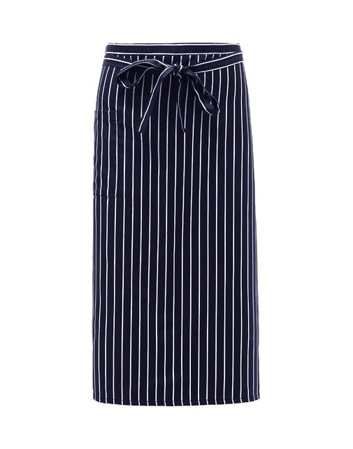 #AA1575 Long Stripe Apron Navy