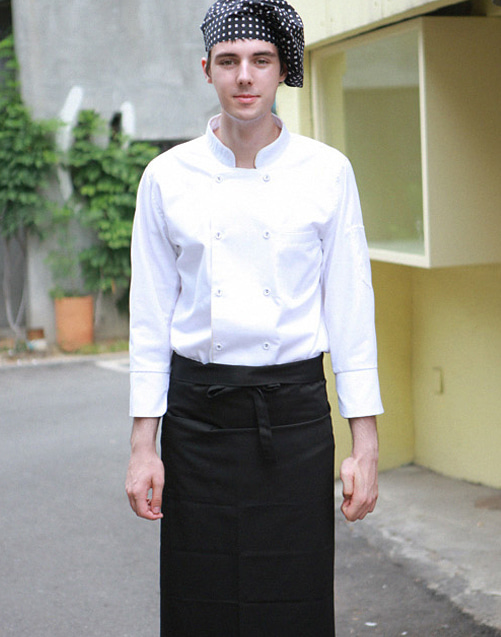 #AA1578 Sicilia Chef Apron Black