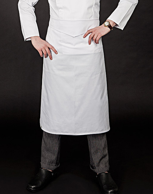 v-folding apron white #AA1661