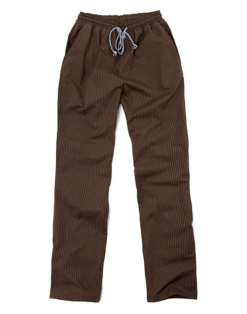pencil striped chef pants brown #AP1664