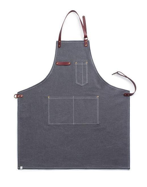 vintage canvas cowhide apron grey #AA1515