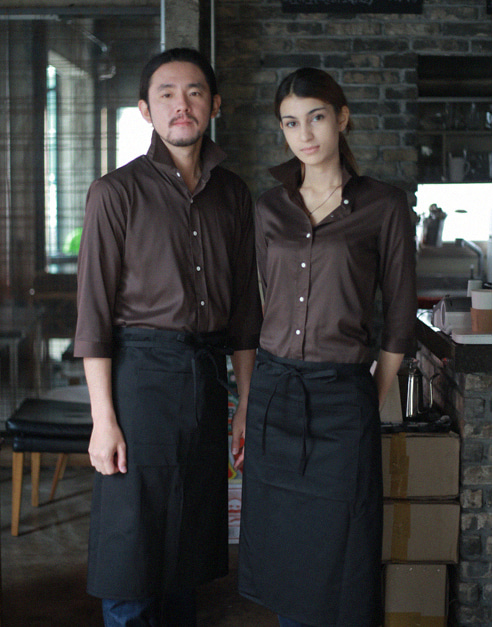 Chic Shirts Brown #AS1535