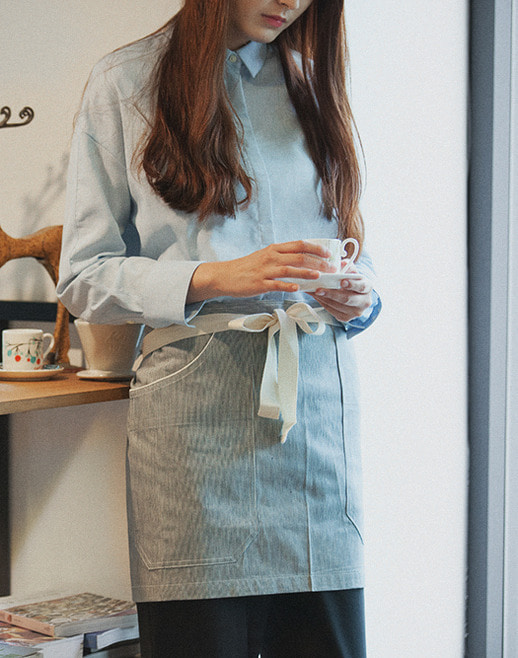 Stripe Denim Apron #AA1315
