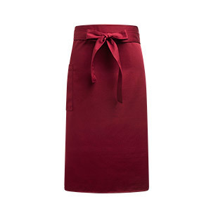 side pocket waist apron burgundy  #AA1707